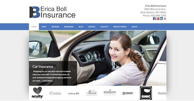 Erica Boll Insurance New Website